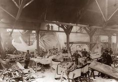 Statue of Liberty being assembled in 1882 at Frederic Bartholdi's workshop in Paris. Gustave Eiffel, genius of the Eiffel Tower, designed the armature.