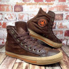 Converse Mens All Star Corduroy High Trainers Brown sz 7 VTG Boot. Sneakers Fashion, Fashion Shoes, Brown Boots Outfit, Men's Shoes, Shoe Boots, Chuck Taylor Shoes, Rocker, Retro Sneakers, Converse Men