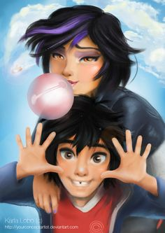 Big Hero Six Fan Art by YourConceptArtist.deviantart.com on @DeviantArt - Gogo and Hiro