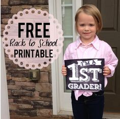 Free Printables: First Day of School Signs & Lunch Box Notes