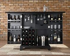 A Wall-Mounted Bar Cabinet Inspired by a Spinning Coin | Wall ...