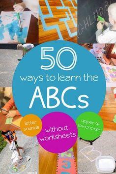 50 Alphabet activiti
