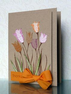 Paperpieced tulips by Tina (julmat), via Flickr - this is amazing!