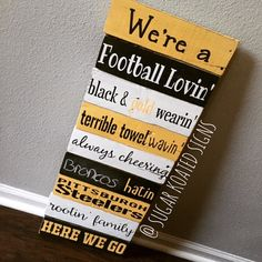Pittsburgh Steelers Family Rules Sign Hand by SugarKoatedSigns Steelers Sign, Pittsburgh Steelers, Family Rules Sign, Sport Craft, Diy Wood Signs, Porch Signs, Summer Crafts, Wood Design, Hand Painted