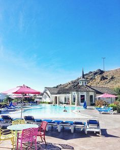 The wacky-wonderful Madonna Inn near San Luis Obispo in California. Your room might have a waterfall shower. At breakfast, coffee is served in dainty cups and water from iridescent pink goblets. And the pool has a wishing well.