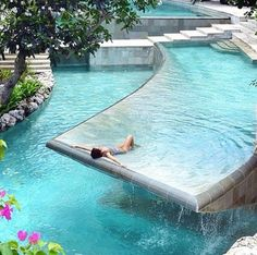Ah yes, a pool in the backyard...
