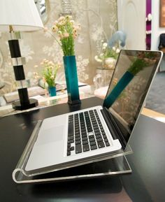 lucite laptop stand