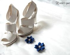 Blue shoe clips, Crystal shoe clips www.etsy.com/shop/BridesbyEve