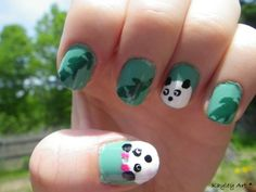 Courtney would love it if I did her nails for her like this!
