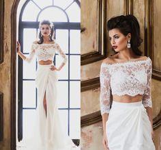 Lace Mermaid White/Ivory Bridal Gown Wedding Dress Custom size 6- 20+++
