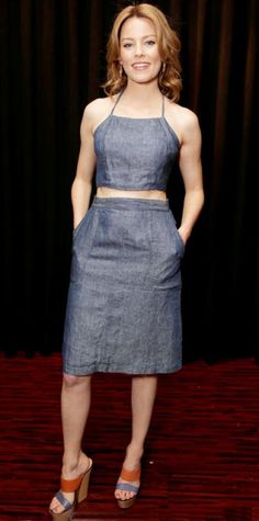Look of the Day - April 21, 2013 - Elizabeth Banks in Jean-Michel Cazabat from #InStyle