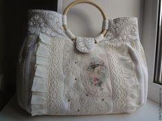 Сумочка Прелесть . - летняя сумка, джинсовая сумка, светлая сумка, сумка с принтом