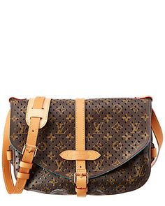 Rue La La — Louis Vuitton Limited Edition Blue Perforated Monogram Canvas  Saumur 30 Saumur 6188b9552383f