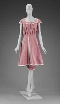 Woman's two piece bathing costume, early 20th century (English). From the collections of the Museum of Fine Arts Boston.