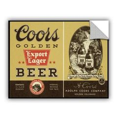ArtWall '12oz Export Lager' by Miller Coors Wall Mural Size: