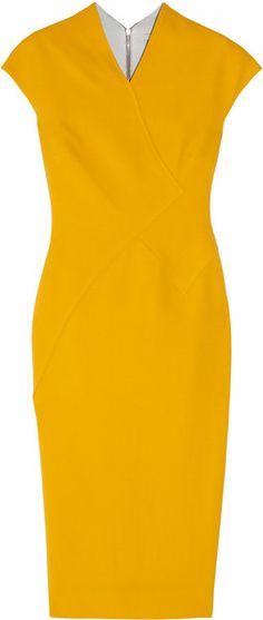 Victoria Beckham  100 Silk and Wool-blend Double-crepe Dress