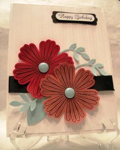Birthday Flowers by BeckyG3 - Cards and Paper Crafts at Splitcoaststampers
