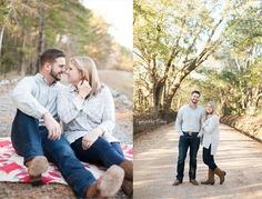 Dirt road engagement session | Fall engagement session | Valdosta, Georgia wedding photographer | Captured by Colson Photography