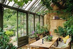 of a Room: Inside a Dreamy Conservatory Anatomy of a room: inside this dreamy cottage garden conservatory.Anatomy of a room: inside this dreamy cottage garden conservatory. Outdoor Rooms, Outdoor Gardens, Outdoor Living, Indoor Outdoor, Plants Indoor, Gazebos, Conservatory Garden, Conservatory Dining Room, Conservatory Interiors