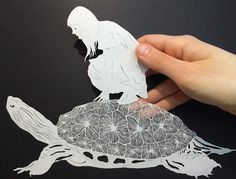 Another of artist Maude White's New' Paper-Cut Art' feat July 2015 on 'thisiscolossal' ★≻❤≺★