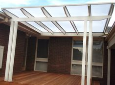 From colorbond to polycarbonate ( laserlite ) to a tiled flat roof verandah or a open flat roof pergola we have the roof design for your home.