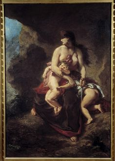 Medea about to Kill her Children, Eugène Delacroix, 1862, Musée du Louvre, Paris.