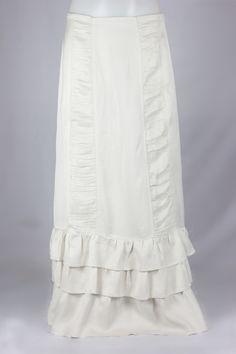 Margot Ivory Ruffles Layered Long Skirt, Sizes 6-18