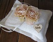Rustic and sweet ring bearer's pillow