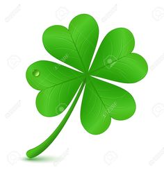 Four Leaf Clover Vector Illustration St Patrick S Day Symbol Royalty Free Cliparts, Vectors, And Stock Illustration. Four Leaf Clover Tattoo, Clover Tattoos, Peace Sign Tattoos, Shamrock Tattoos, Picture Tattoos, St Patrick, Illustration, Plant Leaves, Mini Tattoos