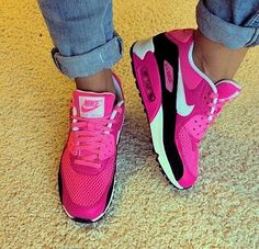 Air Max Sneakers, Sneakers Mode, Sneakers Fashion, Fashion Shoes, Pink Sneakers, Net Fashion, Fashion 2015, Fashion Outlet, Womens Fashion