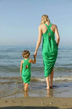 Matching Dresses on the beach