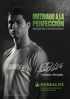 Cristiano Ronaldo, el mejor jugador de fútbol del mundo, 2013-14, en una de sus imágenes publicitarias para #Herbalife. Cristiano Ronaldo no solo es imagen de la firma norte americana de nutrición, sino que, se alimenta a diario con los suplementos nutricionales Herbalife.