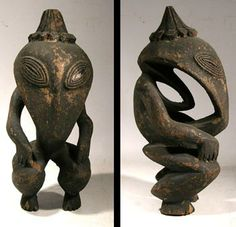 STAR GATES:  A RESIDENT SOF THE EARTH??? WHO IS THIS??? WHAT DO YOU SEE??? WHAT DO YOU THINK???Ramu River ancestral figure from the East Sepik Province of Papua New Guinea.