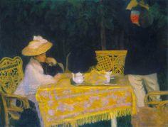 Summer Evening , Ozsonna - Károly Ferenczy , 1904 Hungarian , Oil on canvas, cm Same Ol Same Ol, Art Nouveau, Victorian Life, Feminine Mystique, Traditional Paintings, Summer Evening, Cool Artwork, Photo Art, Oil On Canvas
