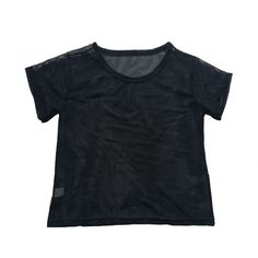 Women Tops camiseta Summer 2017 Women Clothing pure Black Mesh Short Sleeve Crop Casual T-shirt Breathable Top ACC