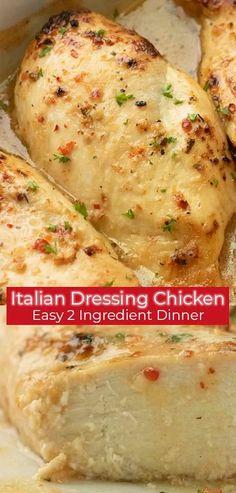 Italian Baked Chicken, Juicy Baked Chicken, Italian Chicken Recipes, Easy Chicken Dinner Recipes, Baked Chicken Breast, Grilled Chicken Recipes, Baked Chicken Meals, Italian Chicken Breast, Baked Chicken Tenderloins