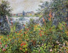 *Flowers at Vetheuil* ~ by Claude Monet ♥