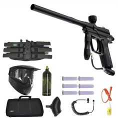 Special Offers - Azodin Blitz Paintball Marker Gun 3Skull Sniper Set  Black - In stock & Free Shipping. You can save more money! Check It (August 02 2016 at 04:39AM) >> http://airsoftgunusa.net/azodin-blitz-paintball-marker-gun-3skull-sniper-set-black/