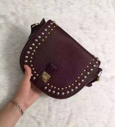 Mulberry Spring Summer 2015 Catwalk Collection Outlet UK-Mulberry Small Tessie Satchel with Rivets Oxblood