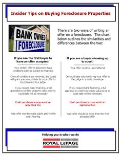 Royal LePage Kelowna: Insider tips on buying foreclosure properties