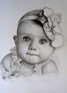 Pencil Sketch Portrait, Pencil Sketch Drawing, Girl Drawing Sketches, Art Drawings Sketches Simple, Pencil Shading, Realistic Pencil Drawings, Dark Art Drawings, Pencil Art Drawings, Cute Baby Drawings