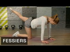 Fitness Master Class - Exercices Fessiers - Lucile Woodward - YouTube