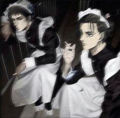 Attack On Titan Comic, Attack On Titan Fanart, Fanarts Anime, Manga Anime, Eren Y Levi, Armin, Real Anime, Maid Outfit, Funny Anime Pics