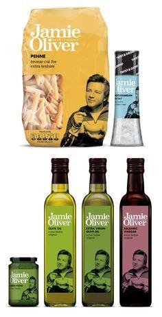 Jamie Oliver branding on packaging PD Cool Packaging, Food Packaging Design, Bottle Packaging, Retail Packaging, Organic Vinegar, Olive Oil And Vinegar, Jamie Oliver, Italian Olives, Food Retail