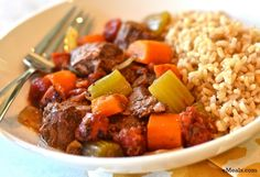 Beef Stew over Rice - Slow-Cooker Clean Eating Recipe | The eMeals Blog