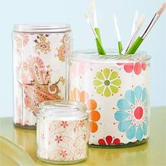 DIY Project: Doll up your desk with these fun jars!