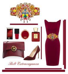 """Belt"" by evachasioti ❤ liked on Polyvore featuring Manolo Blahnik, Tory Burch, L'Oréal Paris, Gucci, Bella Bellissima, Dolce&Gabbana, Henri Bendel, belt and accessories"