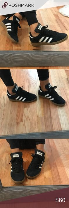 Adidas Busenitz Men's Size 6 - Women's Size 7.5 Black & White Mens Busenitz size 6 (women's 7.5) bough half size too small worn them only for a half hour because they are too small for me! adidas Shoes Sneakers