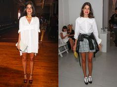 What is the world coming to when I'm pinning Man Repeller outfits? Seriously though, the one on the left is TDF.