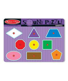 Loving this Melissa & Doug Shapes Sound Puzzle on #zulily! #zulilyfinds